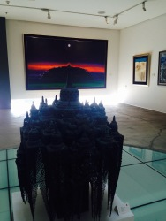 I love where the Borobudur statue and paintings are somehow linear.