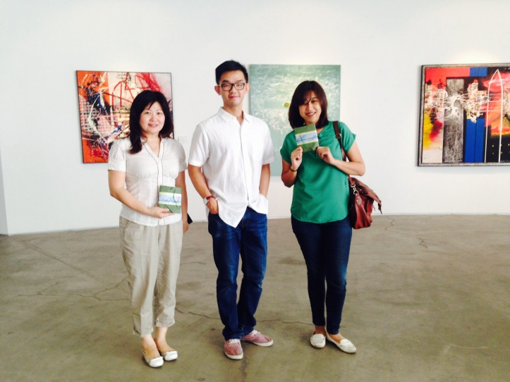 Ci Tien, Lao Shi Joe, and Me after the workshop.