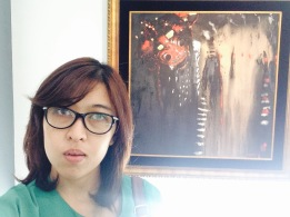 One of my favorite paintings by Mr Sunaryo: Barong (please ignore my weird face)